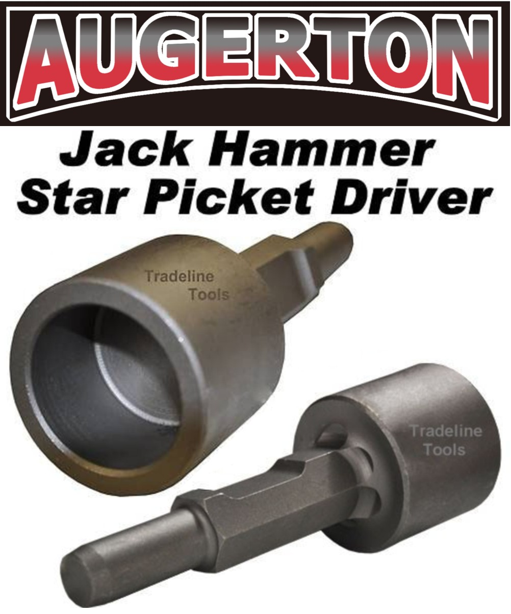 Augerton Jack Hammer Star Picket Farm Post Driver Chisel